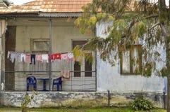 Povera casa georgiana Immagini Stock Libere da Diritti