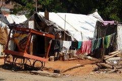 Povera casa temporanea indiana Immagine Stock Libera da Diritti