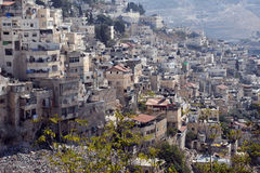 Povero villaggio arabo Immagini Stock