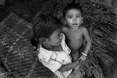 Povertà in India Fotografia Stock