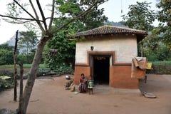 Povertà tribale in India fotografie stock libere da diritti