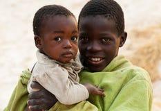 Povertà in Africa Fotografia Stock Libera da Diritti
