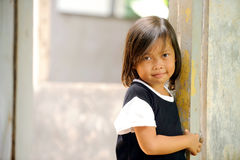 Poverty. Asian children living in poverty royalty free stock photo