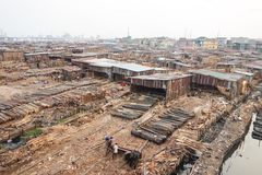 Poverty in Africa. Slums in Lagos Nigeria Stock Images