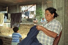 Poverty in Argentina in slum in Buenos Aires royalty free stock photography