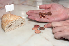 Poverty Bread Royalty Free Stock Images