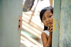Poverty Child. In an abundant house royalty free stock images