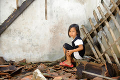 Poverty Child. Asian children living in poverty stock image