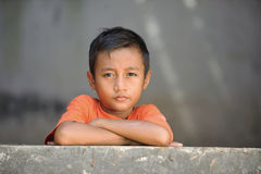 Poverty Child. Asian children living in poverty Royalty Free Stock Images