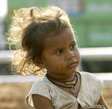 Poverty child. Poverty indian child waiting for food stock images