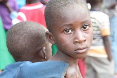 Poverty child. Poor child Living in Poverty in Tanzania stock photos
