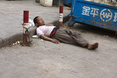 Poverty in China Royalty Free Stock Photos