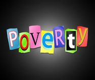 Poverty concept. Stock Photo