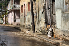Poverty in Cuba Royalty Free Stock Photography