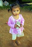 Poverty girl, Indonesia Royalty Free Stock Photography