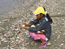 Poverty girl, Vietnam royalty free stock photo
