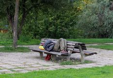 Poverty / Homeless Man Stock Images