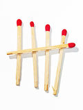 Poverty and Humility Lead to Heaven. Matchsticks on white underground to full size format Royalty Free Stock Image