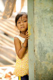 Poverty and Hunger. Poverty child in an abundant house royalty free stock photo
