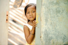 Poverty and Hunger. Asian children living in poverty royalty free stock photos