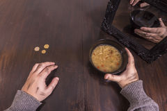 Poverty and illusion concept Stock Image