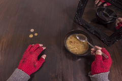 Poverty and illusion concept stock photo