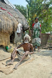 Poverty in India. A poor family in the rural West Bengal of India Royalty Free Stock Photo