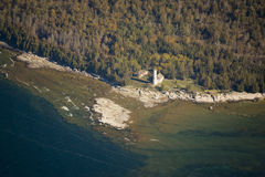 Poverty Island lighthouse michigan USA Royalty Free Stock Photo