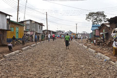 Poverty in Kibera Royalty Free Stock Photo