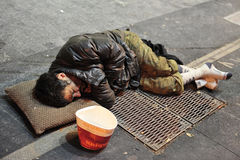 Poverty in Madrid Spain. Stock Image