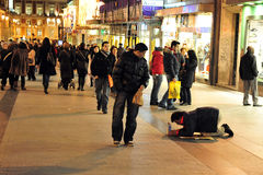 Poverty in Madrid Spain. Stock Images