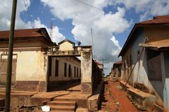 Poverty of the old Ghanaian town Stock Photography