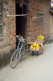 poverty - poor housing in a village in China Royalty Free Stock Images