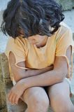Poverty and poorness on the expression of children. 's face and body Stock Photography