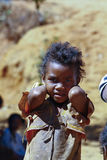 Poverty, portrait of a poor little African girl Royalty Free Stock Photos