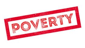 Poverty rubber stamp Stock Photos