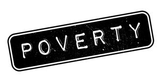 Poverty rubber stamp Royalty Free Stock Images