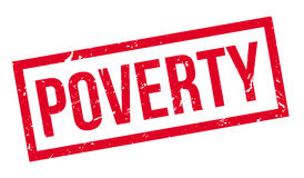 Poverty rubber stamp Stock Images