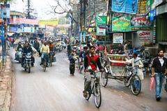poverty-stricken people riding rickshaw Royalty Free Stock Images