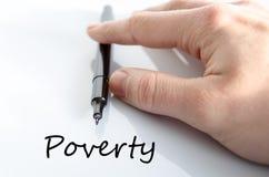 Poverty text concept Stock Photos