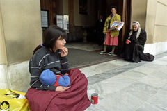 Poverty among women in Buenos Aires, Argentina Royalty Free Stock Photography