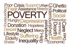 Poverty Word Cloud royalty free stock images