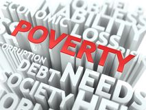 Poverty. The Wordcloud Concept. Royalty Free Stock Photos