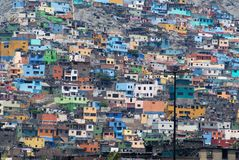 Poverty zones of Lima royalty free stock image