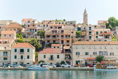 Povlja - старый адриатический городок в Хорватии Стоковые Изображения RF