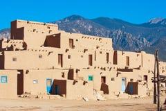 Povoado indígeno de Taos Foto de Stock Royalty Free