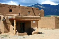 Povoado indígeno de Taos imagem de stock
