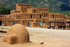 Povoado indígeno de Taos fotografia de stock