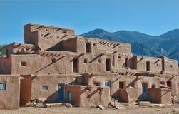 Povoado indígeno de Taos Imagens de Stock