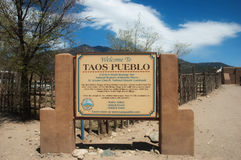 Povoado indígeno de Taos, New mexico Foto de Stock Royalty Free